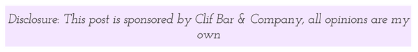 Disclosure: this healthy living post is sponsored by Clif Bar & Co.