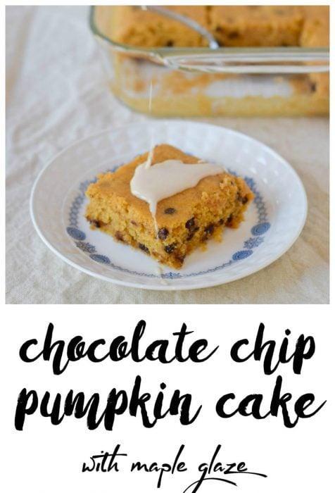 Chocolate Chip Pumpkin Cake with Maple Glaze (Gluten Free)