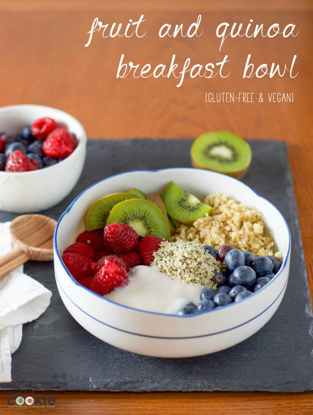 Start your morning right with this easy Fruit and Quinoa Breakfast Power Bowl (Recipe Redux) - @TheFitCookie #thereciperedux #vegan #glutenfree