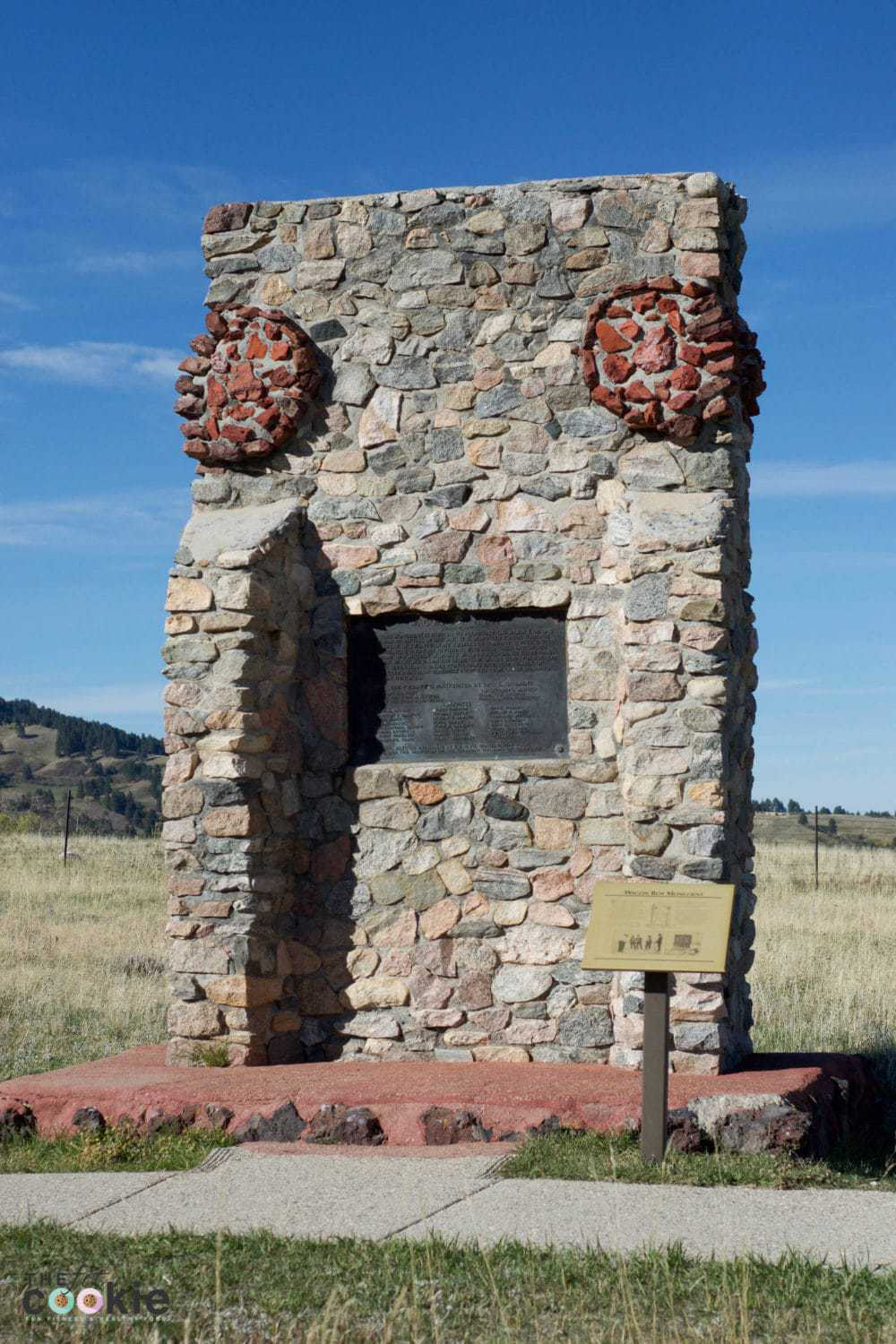 Wagon Box Fight Monument, Story WY - @thefitcookie #wyoming #family #travel
