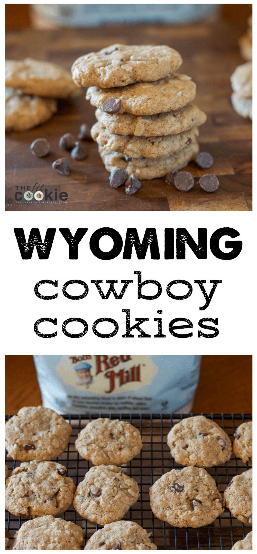 Baking across the USA: Wyoming Cowboy Cookies (#GlutenFree) - @TheFitCookie #AD #50StatesofCookies @BobsRedMill