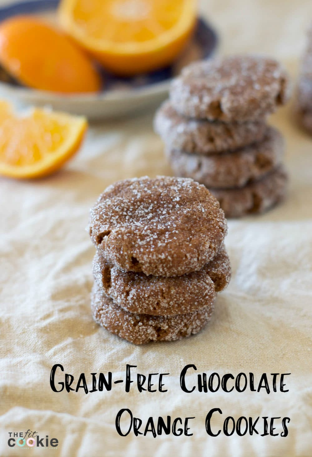 Grain-Free Chocolate Orange Cookies (#GrainFree & #Vegan) - @TheFitCookie #thereciperedux