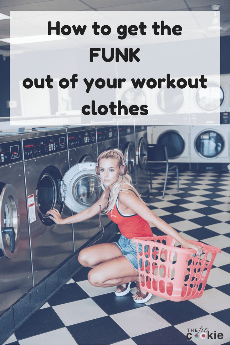 Tired of synthetic workout fabrics holding on to smells? Here are a few ways to get the stink out of workout clothes for good! - @TheFitCookie #fitness