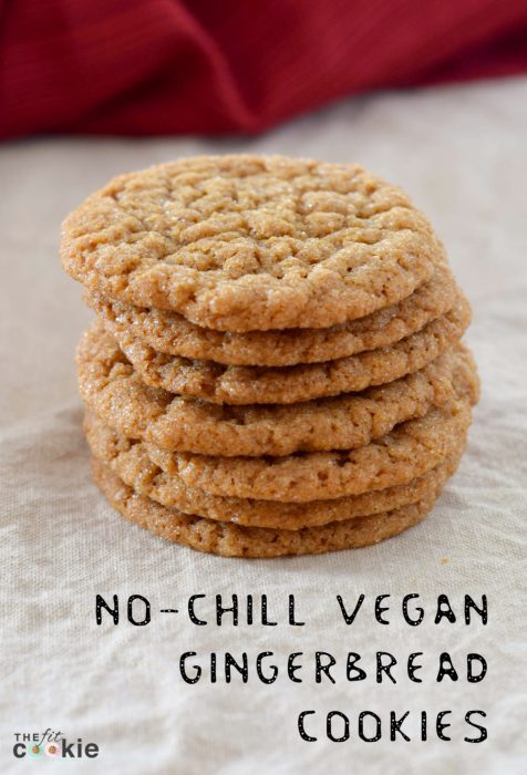 No-Chill Vegan Gingerbread Cookies