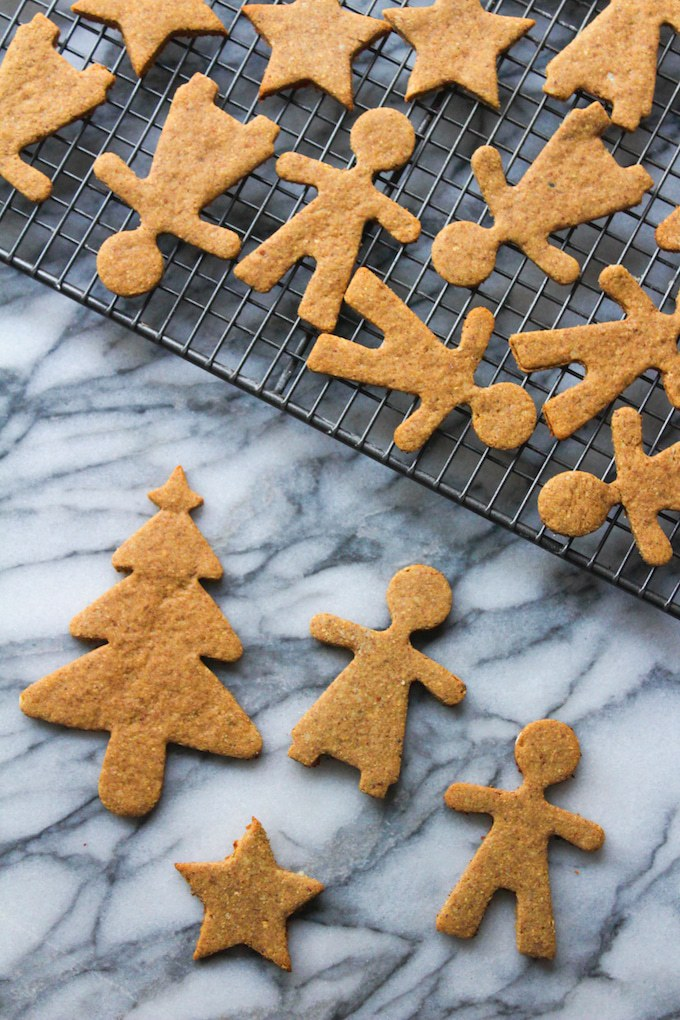 60 Gluten Free and Dairy Free Christmas Cookies: Paleo Gingerbread Cookies by A Saucy Kitchen #paleo #glutenfree