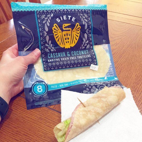 package of Siete grain free and paleo tortillas