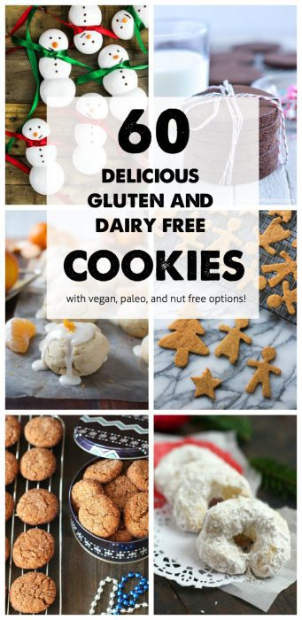 60 Gluten Free and Dairy Free Christmas Cookies