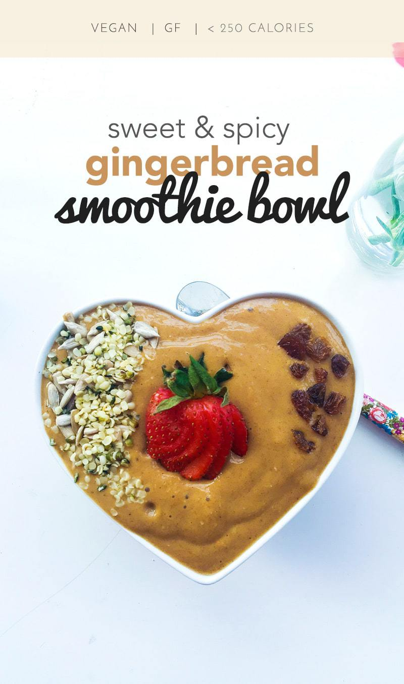 Terrific Gingerbread Smoothie Bowl - Made by Luci