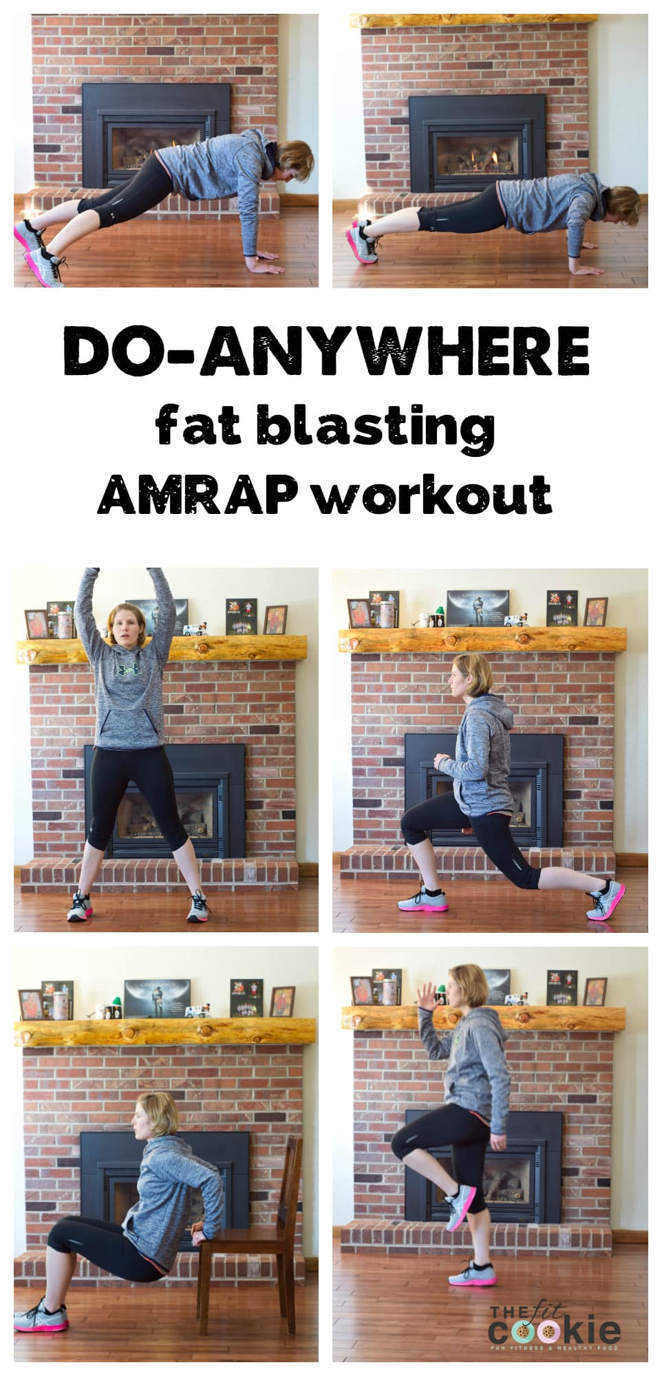 Do-Anywhere Fat burning AMRAP Workout (you can do this workout at home! no special equipment needed) - @TheFitCookie