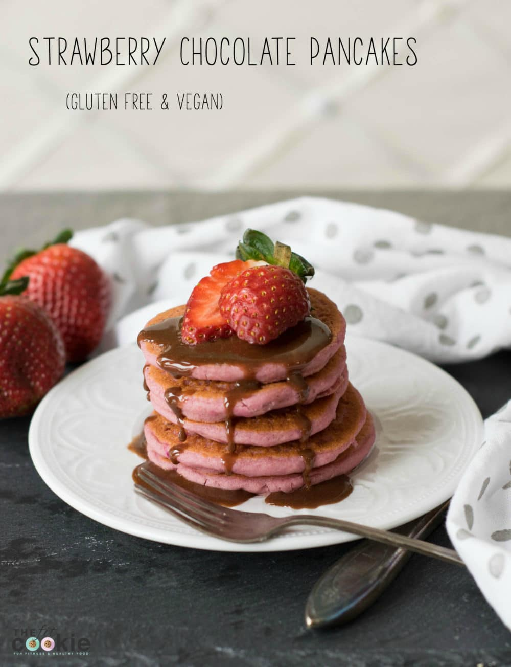 Gluten Free Strawberry Pancakes Vegan The Fit Cookie