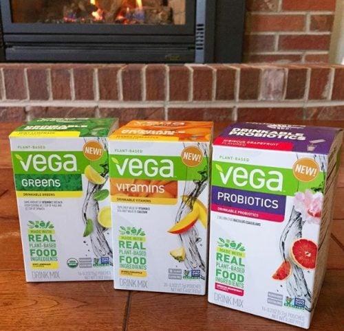 Vega vitamin and probiotic drink mixes
