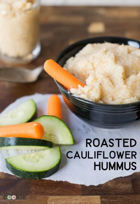 Roasted Cauliflower Hummus by The Fit Cookie (paleo, nut free, vegan)