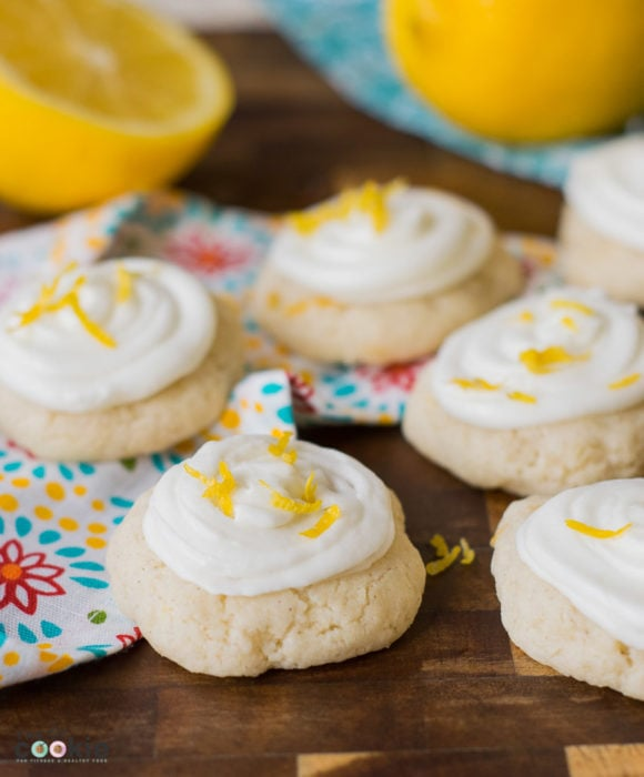 Gluten Free Frosted Lemon Cookies by The Fit Cookie