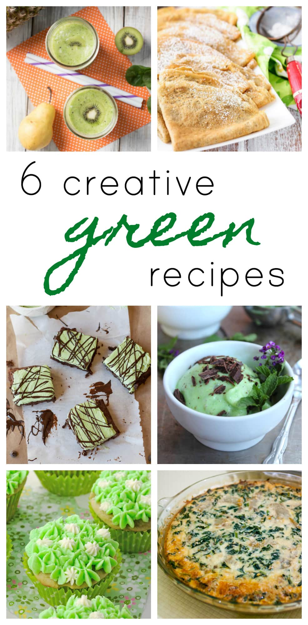 Looking for some festive recipe ideas for March and St. Patrick's Day? Here are 6 creative green recipes to try! - @TheFitCookie