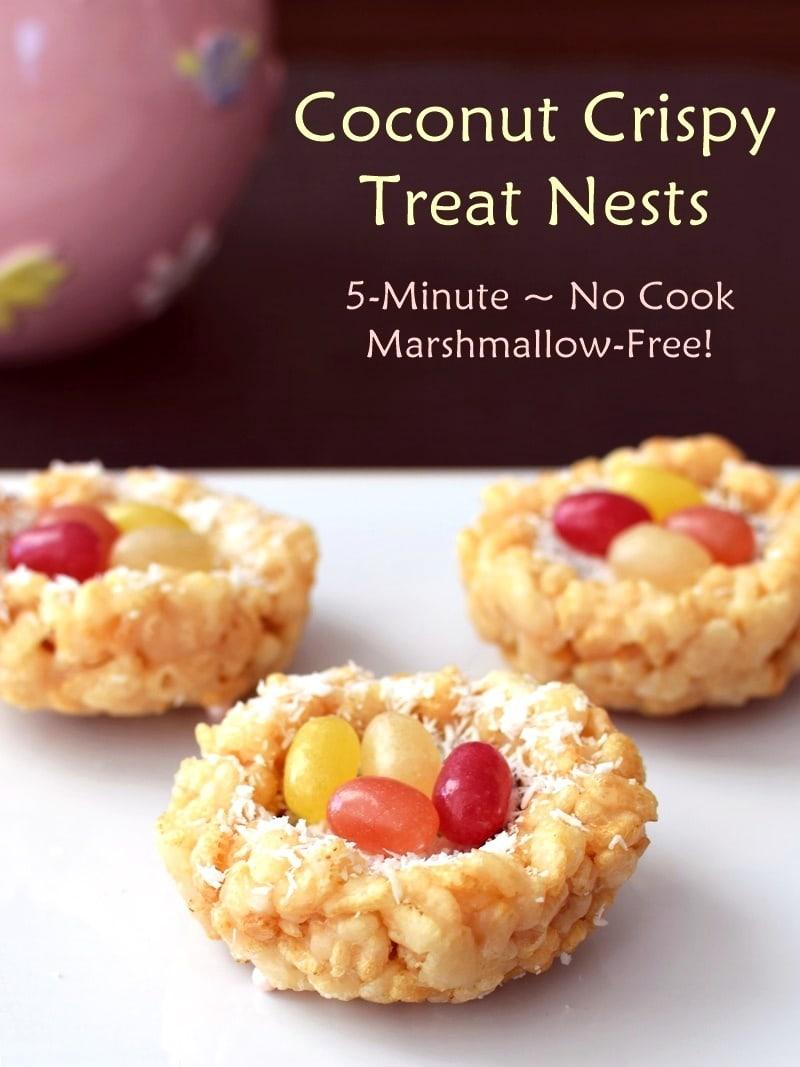 Coconut Crispy Treat Nests by Go Dairy Free