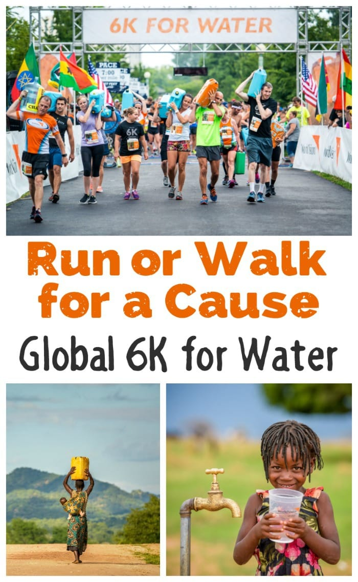Love to exercise and support charities? Run or Walk for a Cause with World Vision's Global 6K for Water on May 6th! #AD