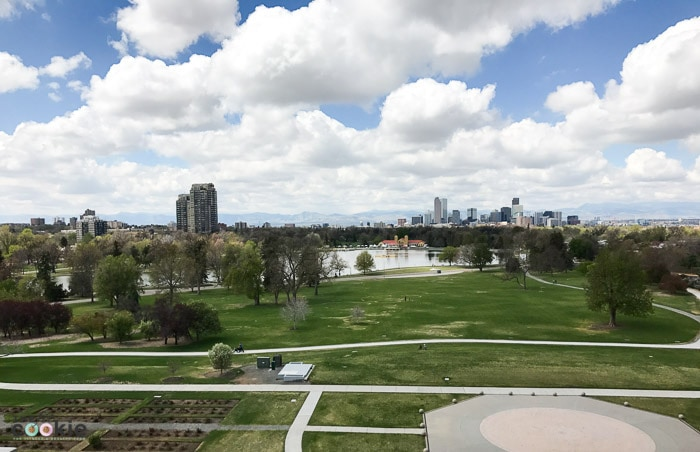 View of downtown Denver from the Denver Museum of Nature and Science - @TheFitCookie