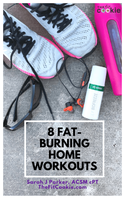 fat burning home workouts - shop the fit cookie