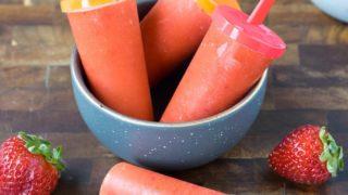 Strawberry Mango Popsicles (Paleo & Vegan)