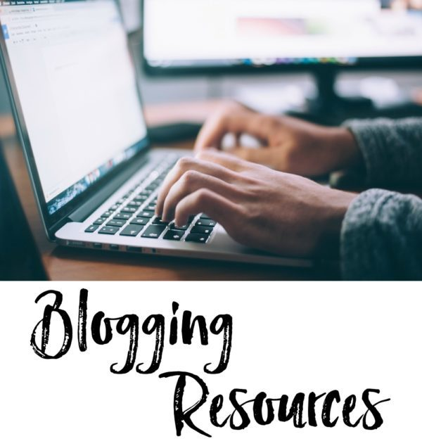 man typing on a laptop - blogging resources