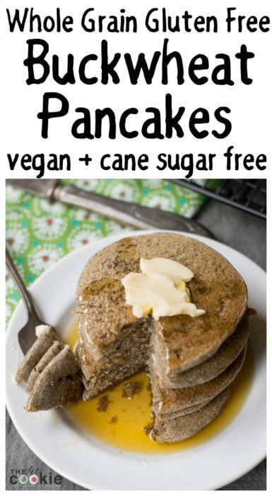 Whole Grain Gluten Free Buckwheat Pancakes (Vegan)