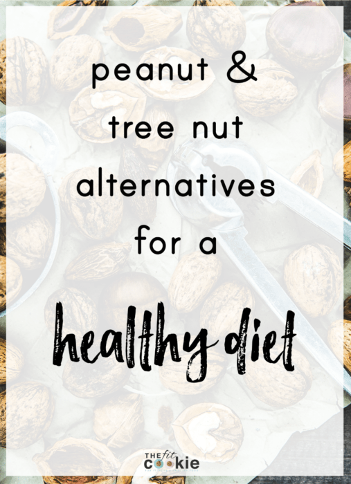 Nut allergies (peanuts and tree nuts) are becoming more prevalent and can be life threatening. How do you replace nutritious nuts in a healthy diet? Here are a few tips and healthy alternatives to nuts to include in your diet | thefitcookie.com #foodallergies #peanutallergies #nutrition