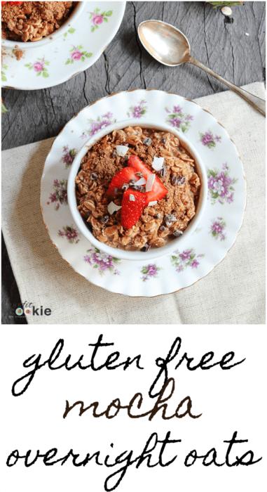Gluten Free Mocha Overnight Oats (Dairy Free)