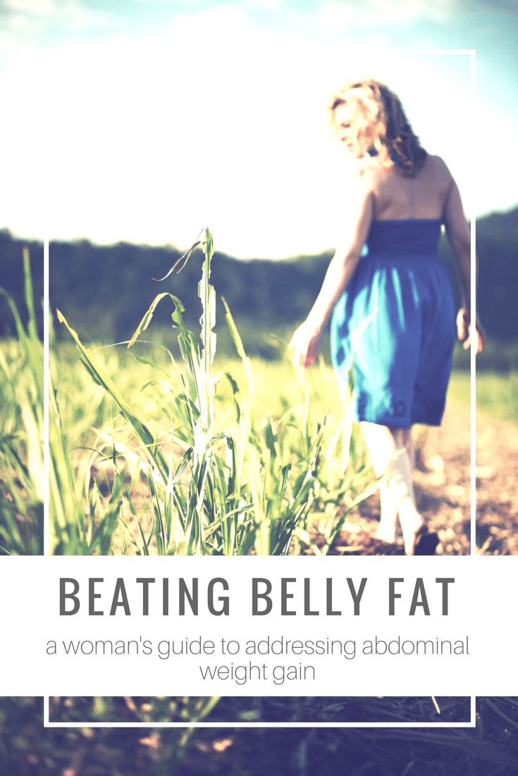 Struggling with abdominal fat that won't seem to away? Sometimes the answer is a bit more complicated than just eat less and exercise more! Here are some things for women to consider when working to beat belly fat - @TheFitCookie