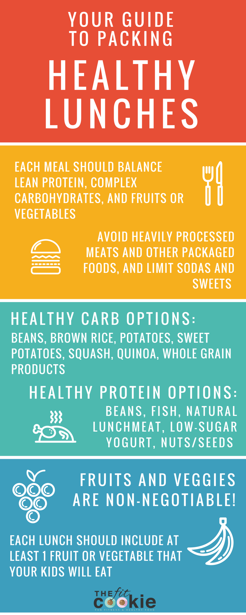 If you pack lunches for your kids for school regularly, it can get tricky figuring out what to pack that's healthy and filling. Here's a few tips on how to pack healthy lunches for school!| thefitcookie.com #backtoschool #school #lunch #snacks