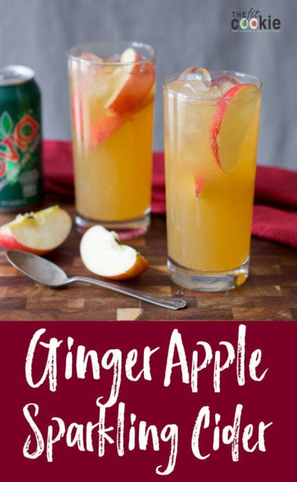 Ginger Apple Sparkling Cider (Lower Sugar)
