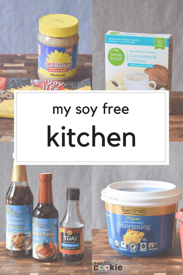 If you're struggling with soy allergies or food allergies in general, finding great alternatives for traditional ingredients can be tough, but it can be done! Here are our favorite soy free cooking products that we use in our kitchen - @TheFitCookie #soyfree #foodallergies