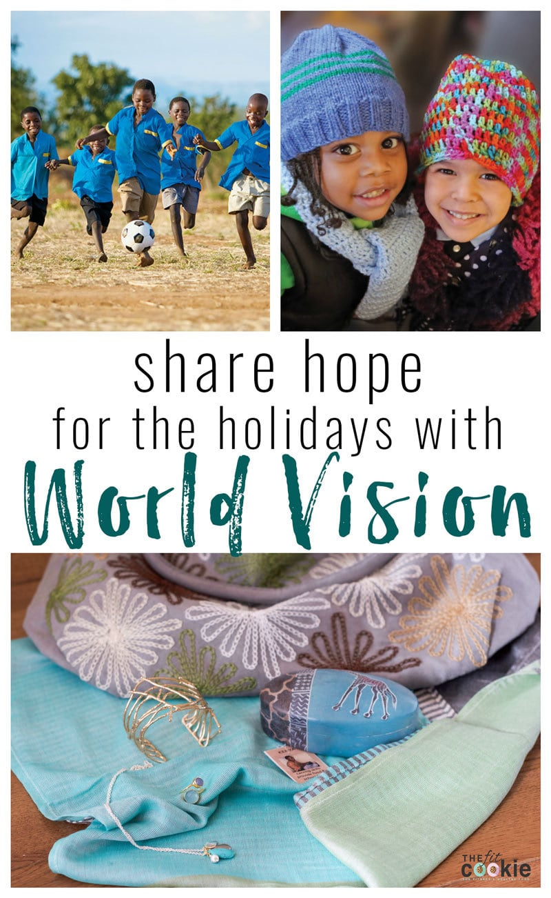 Working on getting ideas for Christmas gifts? Check out the World Vision Gift Catalog for gifts that share hope for the holidays and give back to those in need! - #AD @TheFitCookie #WVGiftCatalog #charity