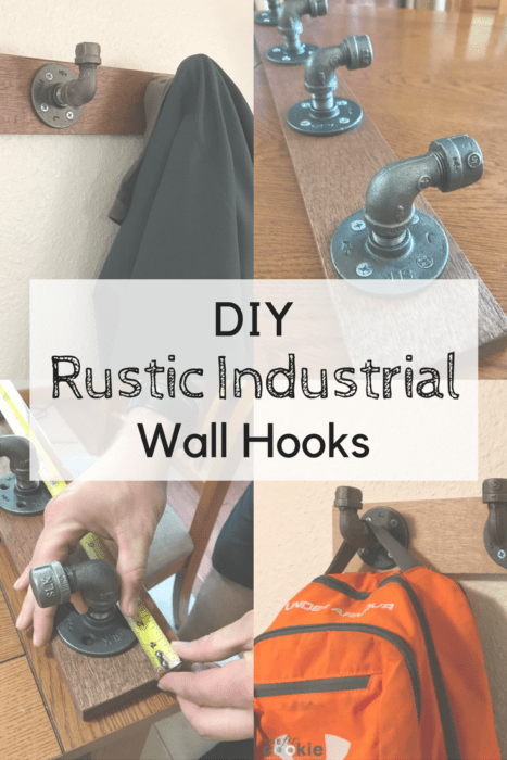 DIY Rustic Industrial Wall Hooks