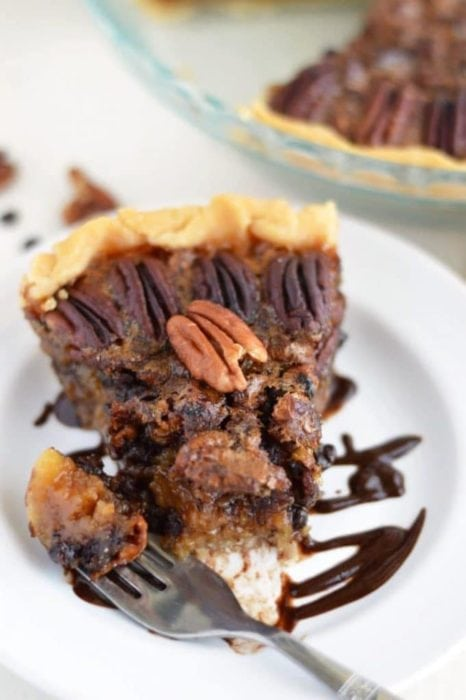 Gluten Free Pecan Fudge Pie (gluten free, dairy free, contains eggs and nuts) for Thanksgiving or Christmas by What the Fork Blog