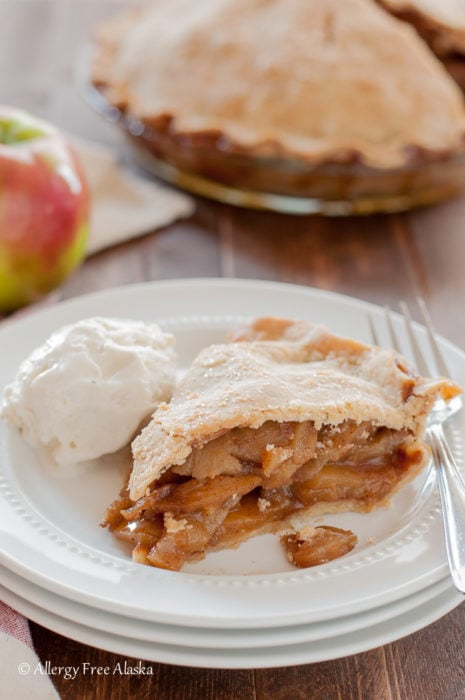 Mom's Amazing Gluten Free Apple Pie (gluten free, nut free, vegan) for Thanksgiving or Christmas - by Allergy Free Alaska
