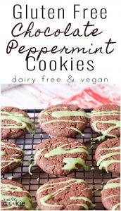 Gluten Free Chocolate Peppermint Cookies (Vegan)