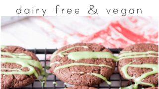 Gluten Free Chocolate Peppermint Cookies (Vegan)