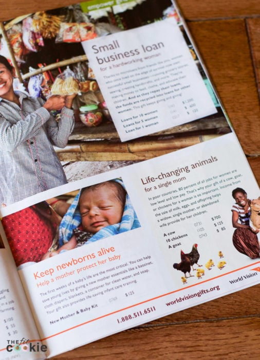 Working on getting ideas for Christmas gifts? Check out the World Vision Gift Catalog for gifts that share hope for the holidays and give back to those in need! - #AD @TheFitCookie #WVGiftCatalog #charity | World Vision Gift Catalog