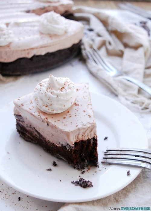 Gluten Free and Dairy Free Triple Chocolate Pie by Allergy Awesomeness