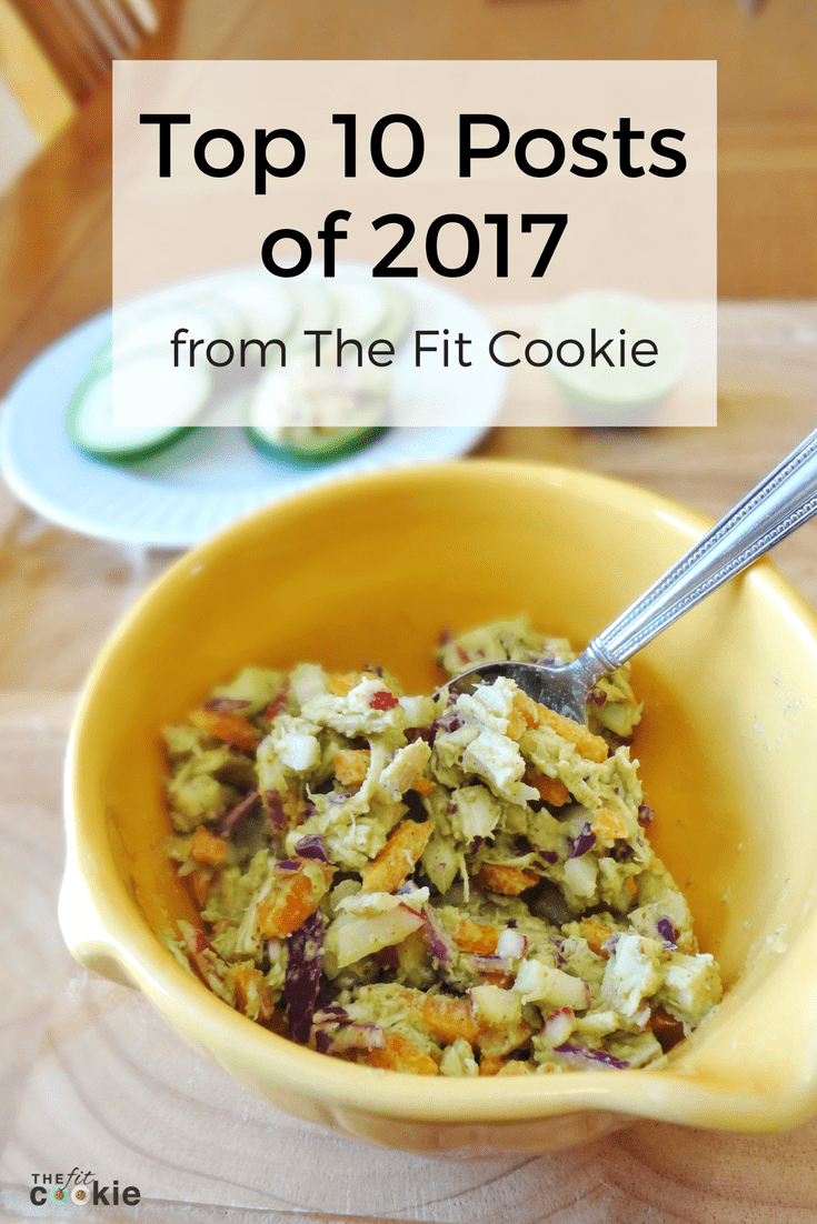 It's been a fun and challenging year! Here's a look at The Fit Cookie's top 10 posts for the year, and a look forward into our goals for the new year - @TheFitCookie #blogging #recipes #fitness