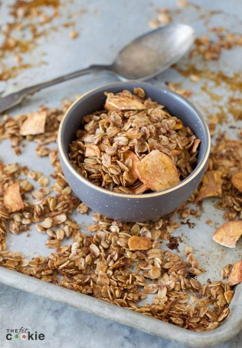 Banana Sunflower Seed Granola by The Fit Cookie