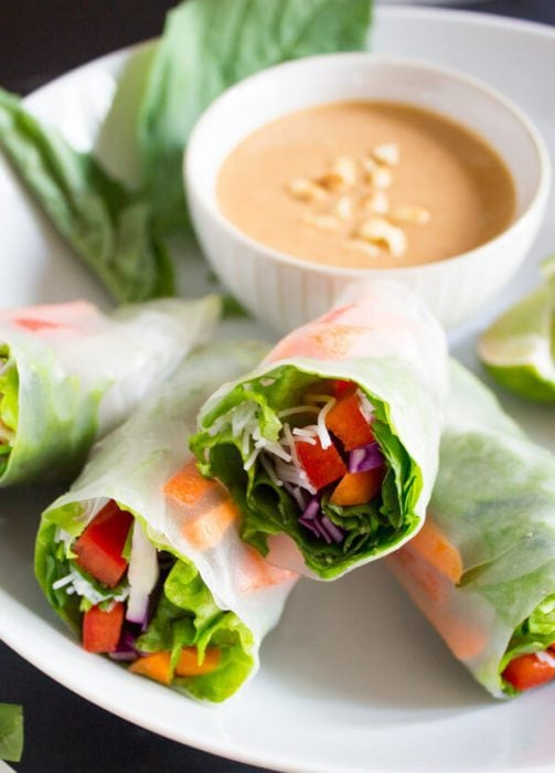 Vegan Salad Spring Rolls by Pass Me Some Tasty