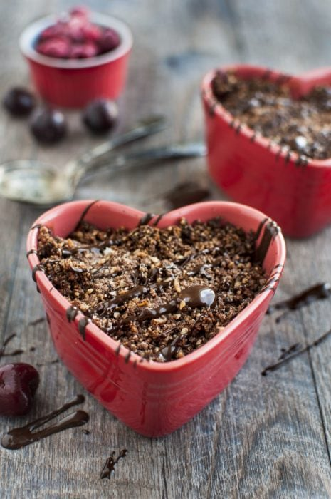 Chocolate Fruit Crisp by The Organic Dietitian