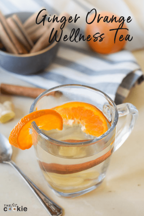Ginger Orange Wellness Tea (Paleo and Vegan)