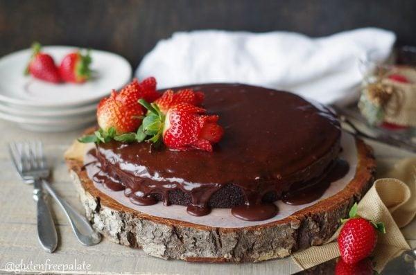 Gluten Free Vegan Chocolate Ganache Cake by Gluten Free Palate