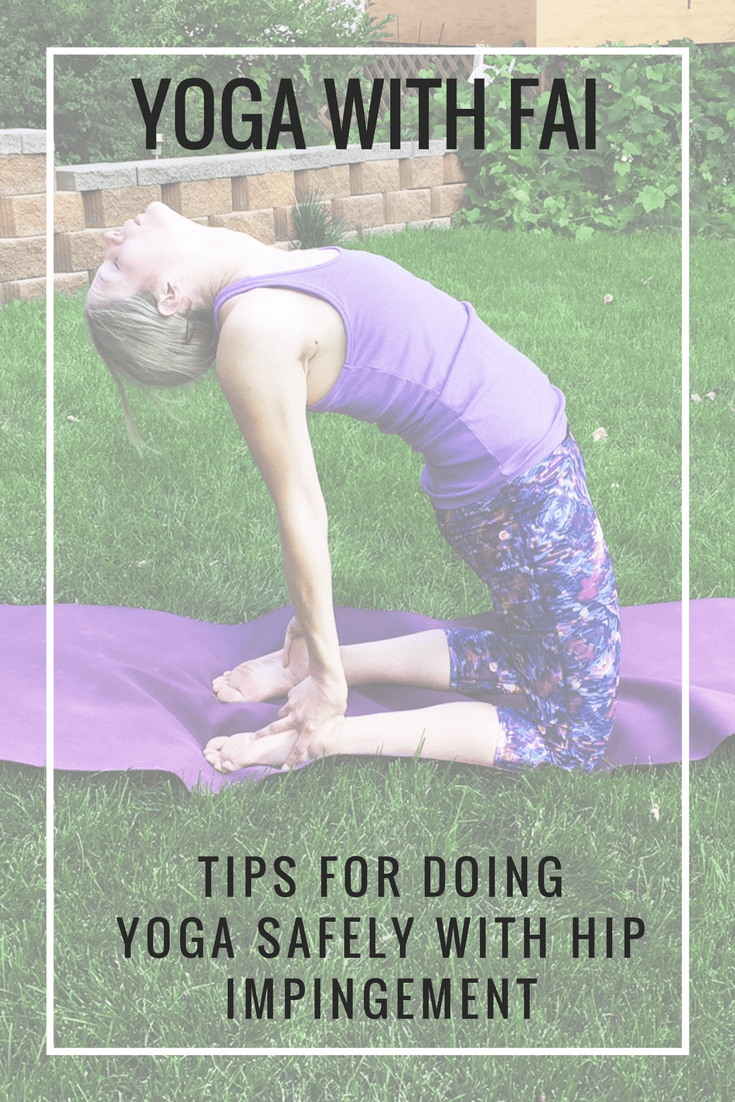 Yoga is amazing for opening tight hips, but can also be problematic if you have joint problems. Here are some tips for safely doing yoga with FAI hip impingement - @TheFitCookie #fitness #yoga