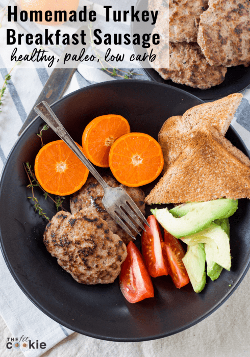 Homemade Turkey Breakfast Sausage by The Fit Cookie