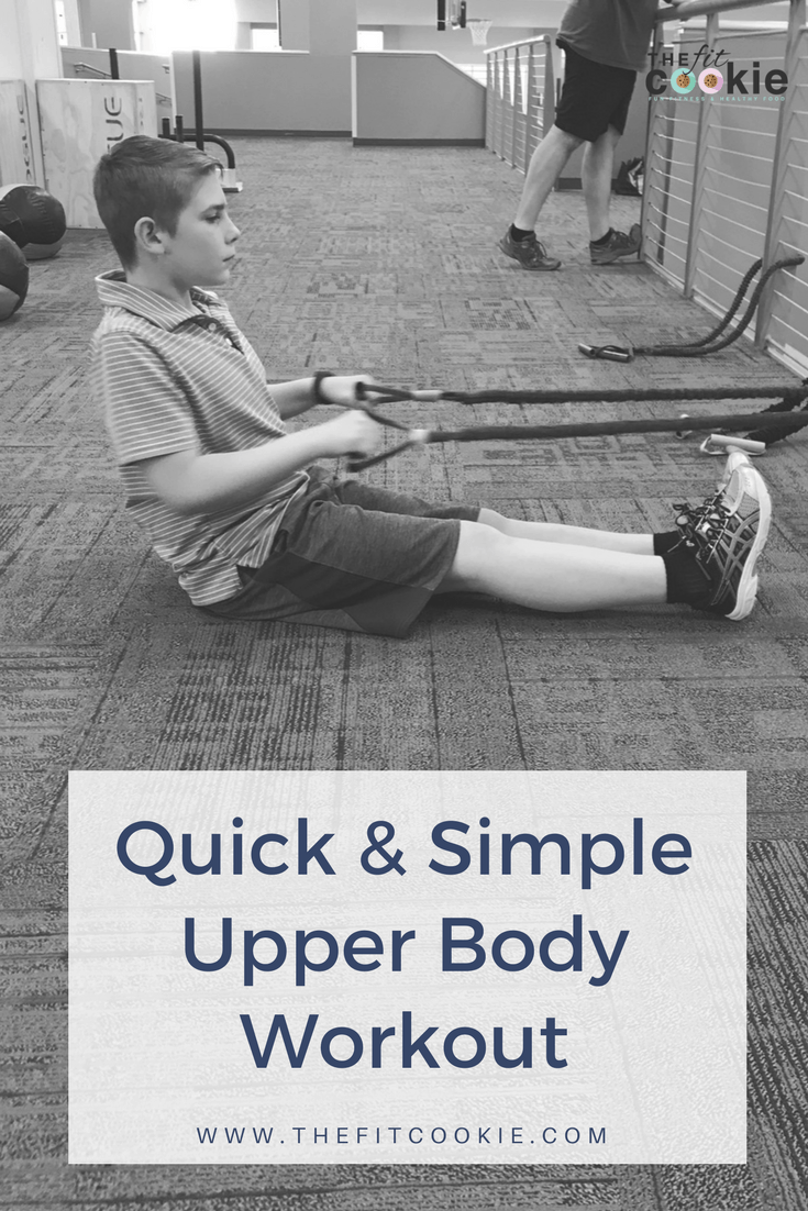 Need a simple upper body workout to do when you're short on time but want to get a quick workout in? This workout is simple but effective so you can get your workouts done even if you're short on time - @TheFitCookie #workout #fitness