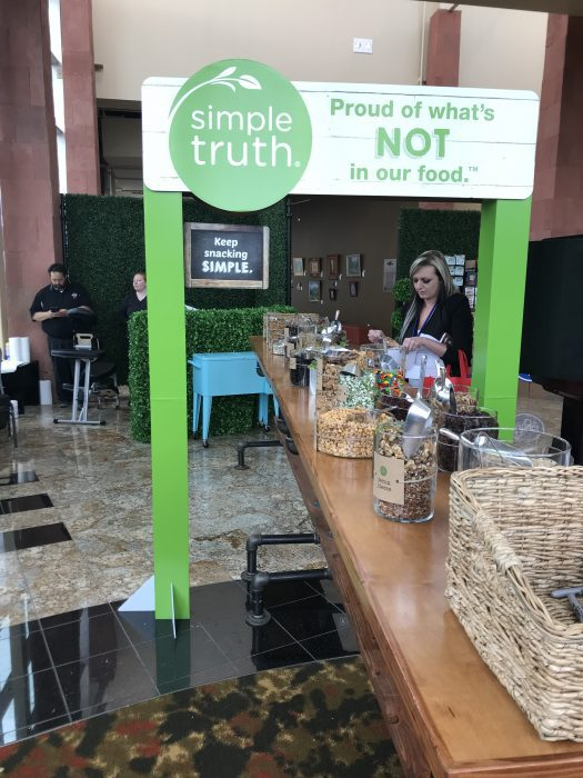 Simple Truth snack bar at the Kroger Wellness Oasis at Everything Food Conference
