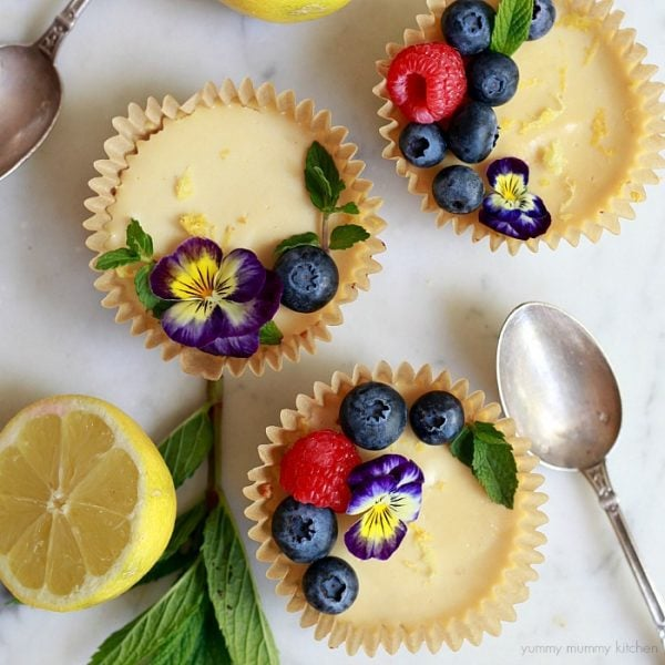 Vegan Paleo Mini Lemon Tarts by Yummy Mummy Kitchen